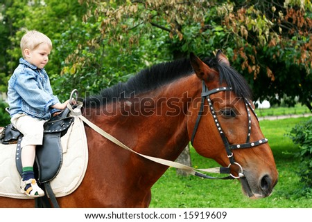 Little kid to go on horseback