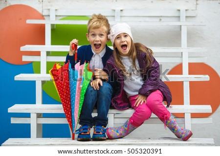 little kids wearing stylish...