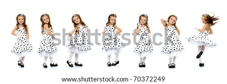 Little Miss isolated on white background