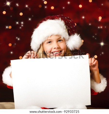 little miss santa with a empty list of wishes