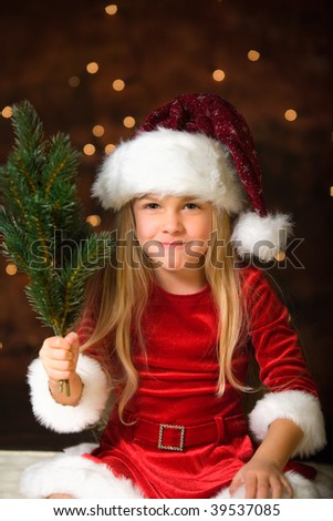 little miss santa with a rod for bad childrens
