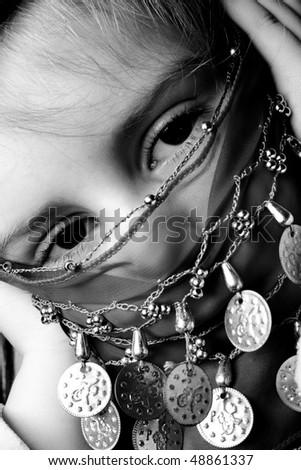 little muslim girl with veil