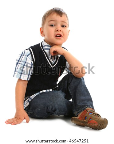 Little Naughty Boy On White Background Stock Photo 46547251 : Shutterstock