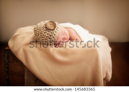 Little newborn girl sleeping