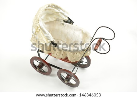little old fashioned stroller