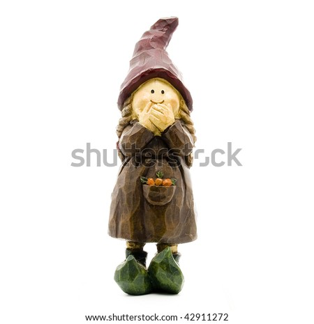 Little Old Lady Garden Gnome for Prosperity