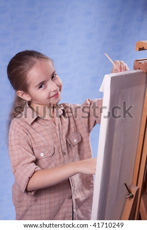 Little painter at the work