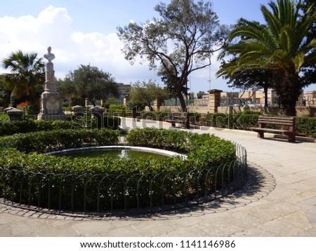 Little park in Valetta, Malta's capital #1141146986