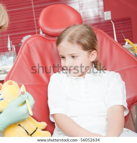 Little patient at dental clinic
