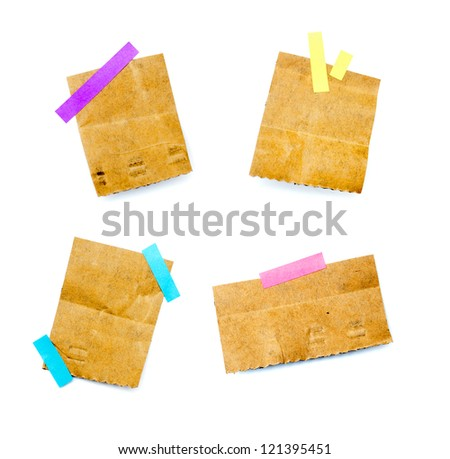 little pieces of paper on a white background and in high definition