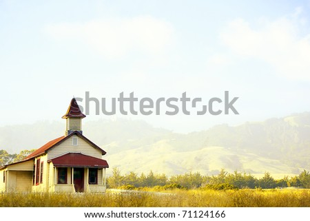 Little Red and Yellow Schoolhouse