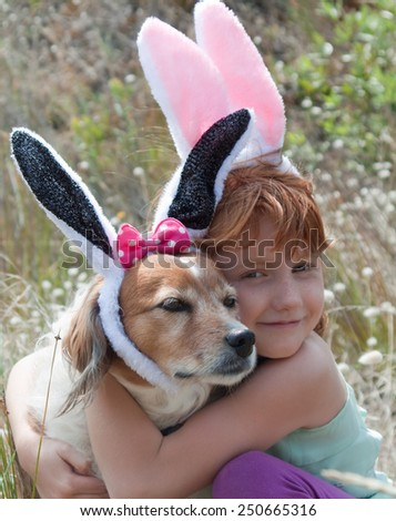 tail Pet girl with bunny