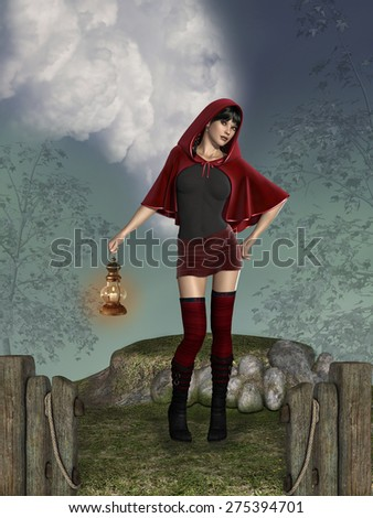 Stock Photo Little Red Riding Hood