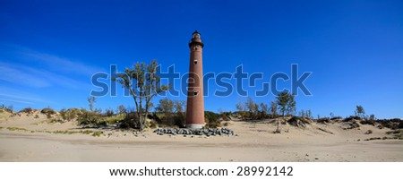 Little Sable Point Lighthouse Along The Shore Of  Lake Michigan, Michigan's Lower Peninsula