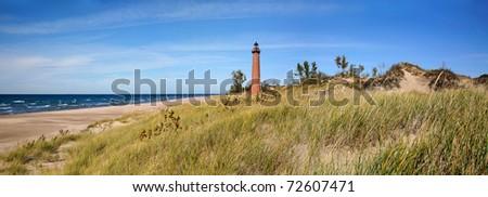 Little Sable Point Lighthouse On Lake Michigan, Lower Peninsula, USA
