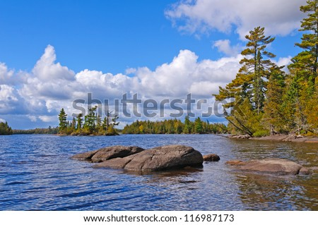 Little Saganaga Lake in the Boundary Waters in Minnesota