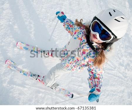 Little skier portrait