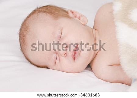 Little sleeping baby