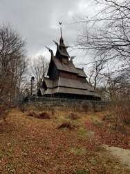 little small wooden chuch hidden inside the forrest of Norway. from the middleages to now it still holdes its beauty