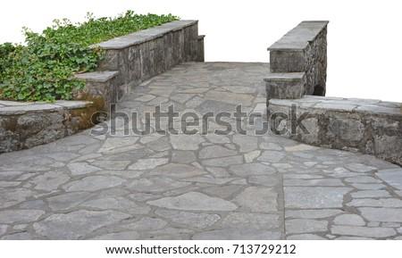 Little stone decorative bridge