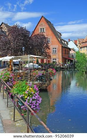 little Venice in Colmar,Alsace,France