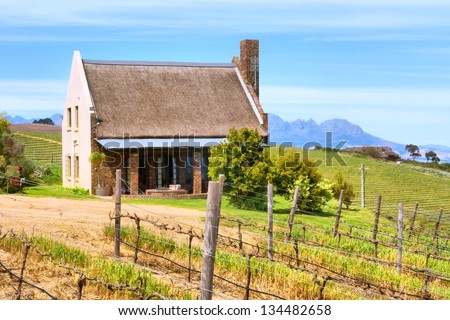 Little winemaker's house. Shot in Kuils River Winelands, near Stellenbosch and Cape Town, Western Cape, South Africa.