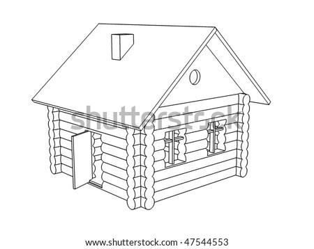 Little Wooden Houses Little Wooden House Outline