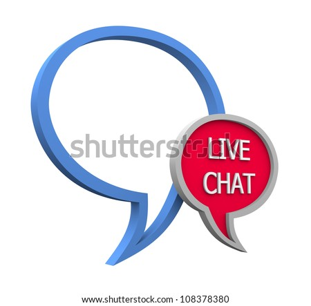 Live chat icon on white background