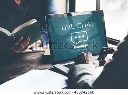 Live Chat Online Conversation Message Concept #458942560
