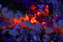 live coals in the stove