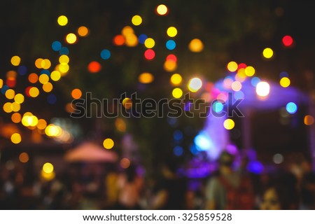 Live concert gig during Christmas outdoor event