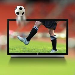 Live soccer on TV