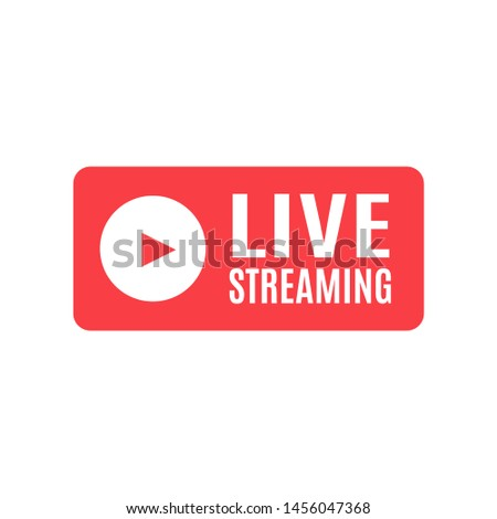 Live Streaming icon. Emblem for broadcasting or online tv stream