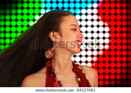 Lively Teenager With Energy Dancing The Night Away At A Disco