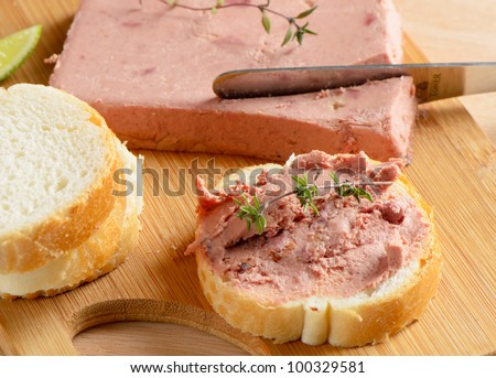 Liver pate and slices of   bread