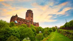 Liverpool Cathedral or the Cathedral Church of the Risen Christ in Liverpool, UK