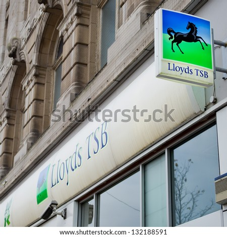 LIVERPOOL-DEC 18: Lloyds TSB Bank Branch on Dec. 18, 2012 in Liverpool, United Kingdom. Lloyds TSB Bank Plc is a retail bank in the United Kingdom. As of 2012 it has 16 million accounts.