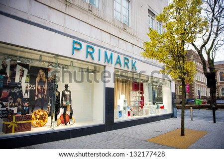 LIVERPOOL-DEC 18: Primark Store on Dec. 18, 2012 in Liverpool, UK. Primark is an Irish clothing retailer, operating in Austria, Belgium, Germany, Ireland, Portugal, Spain, the Netherlands and the UK.