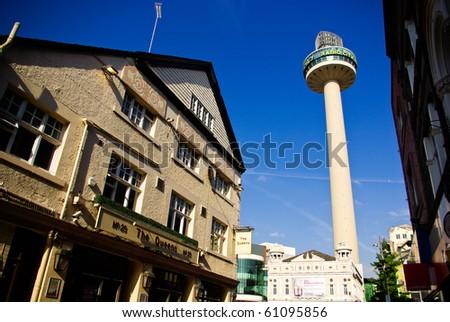 LIVERPOOL, ENGLAND - JUNE 4: St. John's Beacon (Radio City Tower) on June 4 ,2009 in Liverpool, England. St. John's Beacon built in 1969 138 metres (452 ft) high