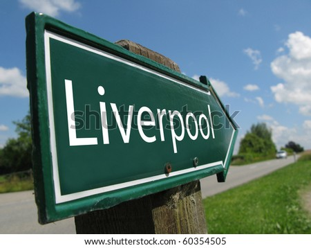 Liverpool road sign