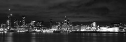 LIverpool Waterfront in Black and White