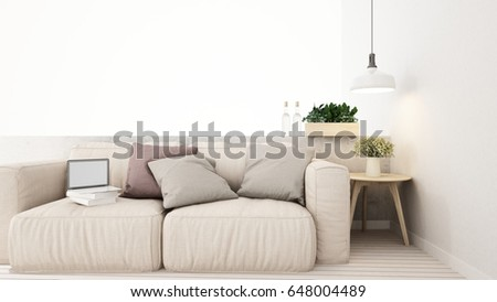 living area in home or apartment - 3D Rendering #648004489