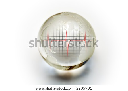 Living Earth - Crystal globe with heartbeat