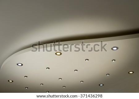 living room ceiling halogen spots