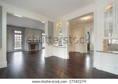 Living Room From Foyer Entryway Stock Photo 27582274 : Shutterstock
