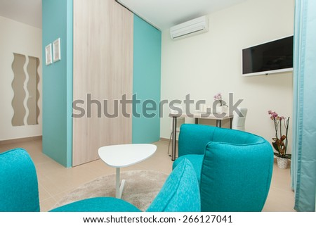 living room in an modern apartment #266127041