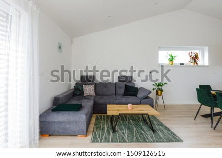 Living room in contemporary house #1509126515