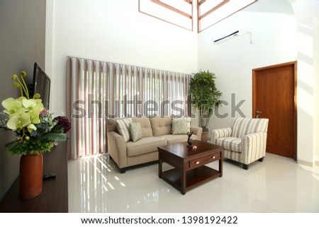 living room in modern house  with the modern furniture