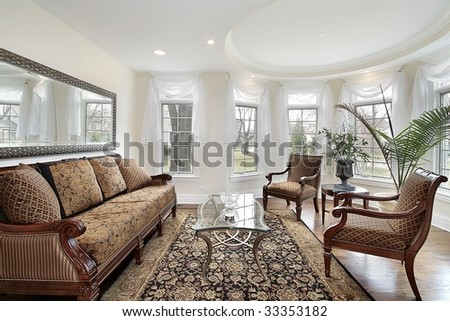 Living room in suburban home
