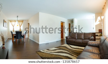Living room Interior design in a new house #135878657